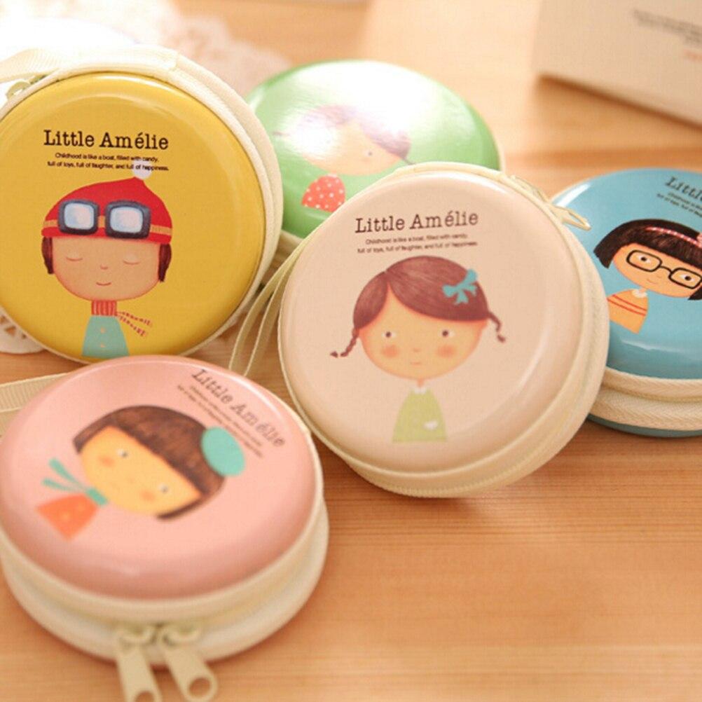 1 шт. мини однозначно мяч Форма наушники SD Card Macarons сумка ящик для хранения Чехол мешочек маленький таблетки шкатулке организации