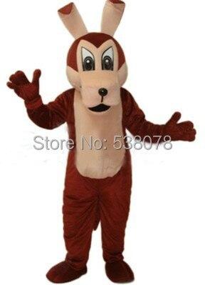 Grande marrone lupo mascot costume adulto dimensione dei cartoni