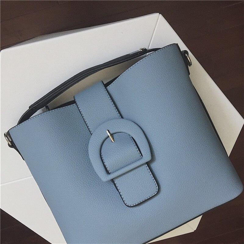 Purses And Handbags Fashion Famous Designer Brand Pu Women Totes Bag Composite Shoulder Bag Black Blue