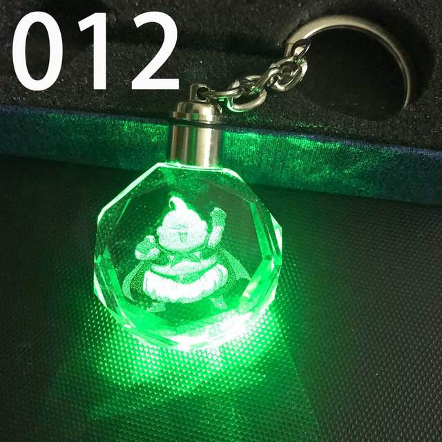 ZOEBER bright  Crystal Keychain Cartoon anime Crystal shiny Ball cosplay ball Led Keyrings car keychains key chain 5