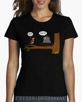 2017 Best Sell T Shirt Women Cuckoo Parasite Robin Short Sleeves Casual Knitted 3d S XXXL