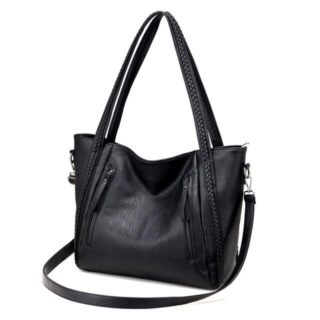 Soft Leather Large Shoulder Bag 1