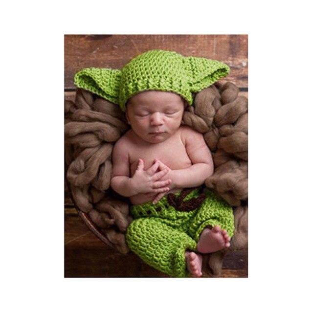 Nueva Llegada Hecha A Mano de Punto Bebé Yoda Star Wars Yoda Traje ...