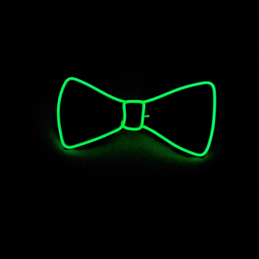 Cosplay Club Wedding Decoration Keep You Fit All The Time Humorous Fashion Blue Color Luminous Gift Glowing Led Tie El Wire Tie For Halloween Party Dj Bar Festive & Party Supplies Glow Party Supplies