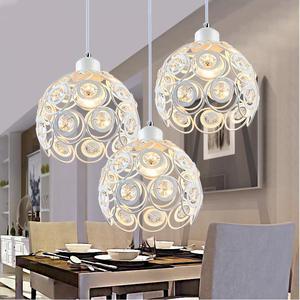 Image 3 - גביש מנורת מסעדת תליון אורות creative אישיות מודרני פשטות בר אוכל חדר יסעד תאורת אהיל (Dia: 20 cm)