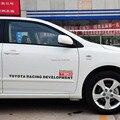 2 x decoração do carro porta lateral do carro trd etiqueta e decalques para toyota avensis Ricardo Laura Reiz Crown Camry rav4 yaris prius verso