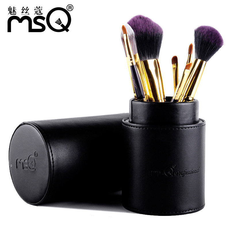 MSQ Professional Makeup Brushes Set High Quality 7 Pcs Makeup Tools Kit Premium Full Function Blending Powder Foundation Brush
