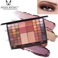 MISS ROSE 54 Cores Shimmer Matt Pérola Brilho Paleta Da Sombra de Olho paleta de sombra Sombra paleta de maquiagem profissional