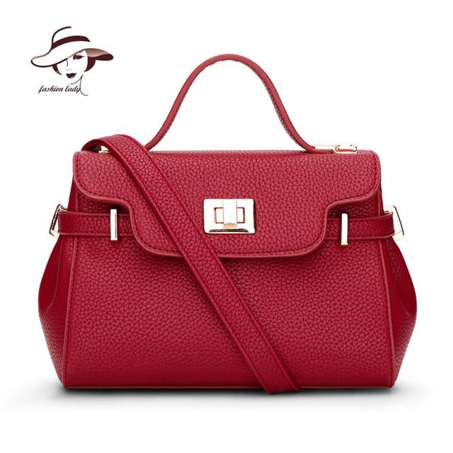 2017 Fashion PU Leather Women Leather Handbag Casual Solid Color Women Shoulder Bag Fashion Female Tote Bolsas Messenger Bags