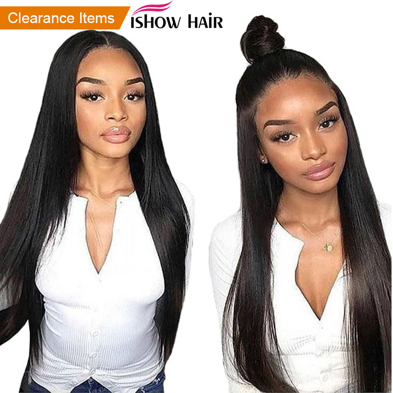 13x4 Lace Front Human Hair Wigs For Black Women Full Long Straight Lace Front Wig Ishow