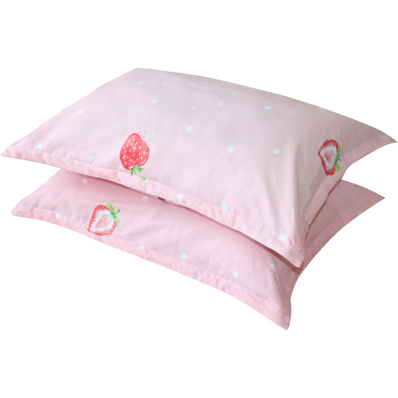 2pcs/lot Breathable Baby Pillowcase Strawberry Printed Infant Pillow Cover 74x48cm Cotton Toddler Pillow Case Baby Room Decor