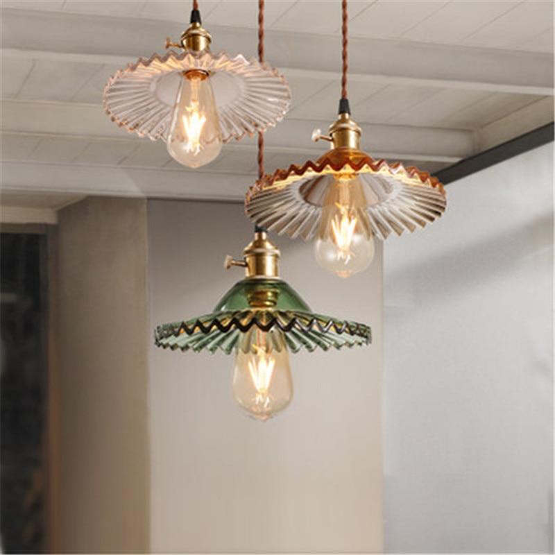 American Industrial Vintage Droplight Edison Led Pendant Light Fixtures Loft Style Retro Glass Hanging Lamp Home Lighting