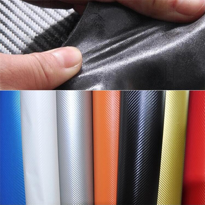 50cmx10cm/piece Car External Styling PQ Carbon Fiber Stickers Automobile Interior Accessories