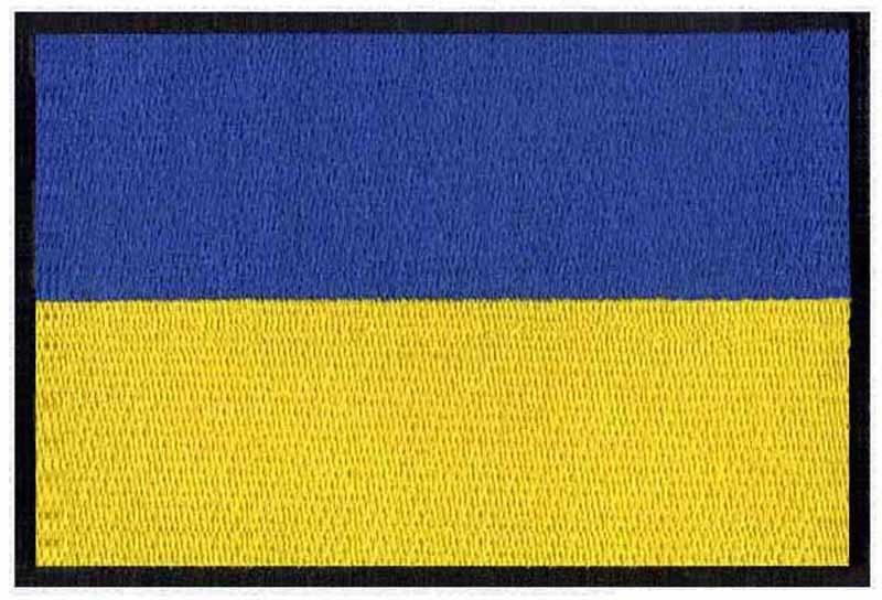 ≧Ucrania bordado Bandera de 3 ancho/parche para ropa/banda de metal ...