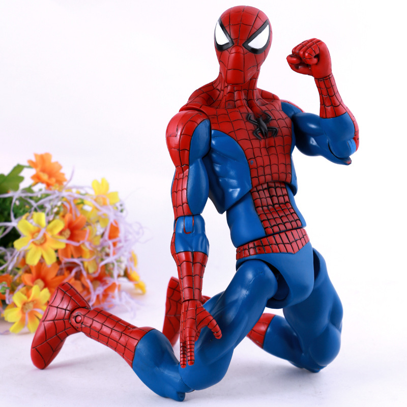 NEW hot 32cm Justice league spider-man spider man movable collectors action figure toys Christmas gift doll new hot 17cm avengers thor action figure toys collection christmas gift doll with box j h a c g