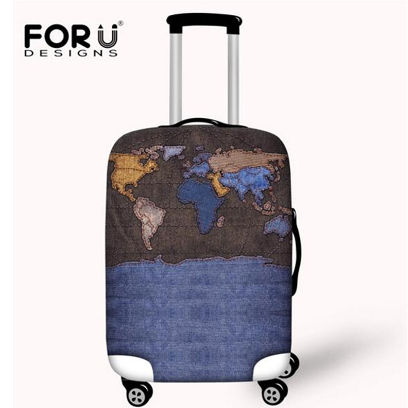 FORUDESIGNS Big Flower Print Luggage Protective Cover,Elastic Cove For 18-32 Inch Travel Suitcase,Dust Cover Accessories Luggage
