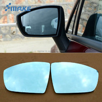 smRKE 2Pcs For Ford Escape Rearview Mirror Blue Glasses Wide Angle Led Turn Signals light Power Heating