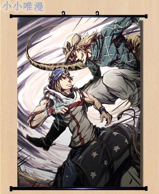 Japanese Anime JoJo's Bizarre Adventure William.A.Zeppeli & Joseph Joestar Home Decor Wall Scroll Poster Decorative Pictures 2