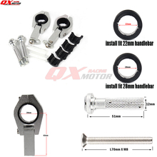 Motorcycle Dirt Bike ATV 1-1/8 28mm Fat Bar Handlebar Use handguards Clamp Kit  Free shipping