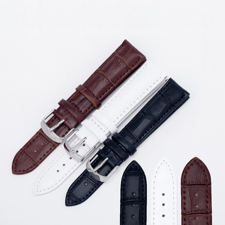 Wholesale 10pcs/lot Thick Leather <font><b>Watches</b></font> <font><b>Band</b></font> Strap <font><b>20mm</b></font> Brown White Black Woman Man Watchbands <font><b>Watch</b></font> Belts image