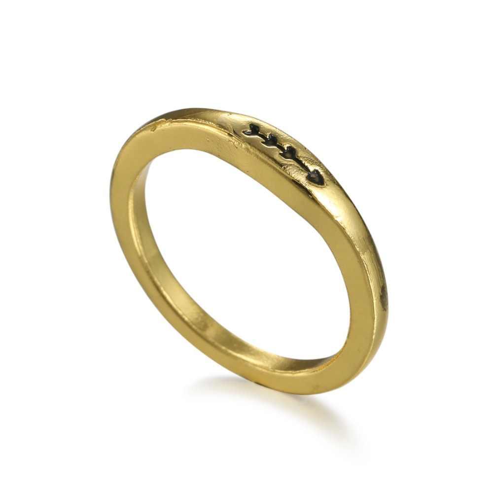 40d35462021a Rinhoo стрелка кольцо Для женщин Для мужчин кольцами пара золотой цвет  кольцо из нержавеющей стали для