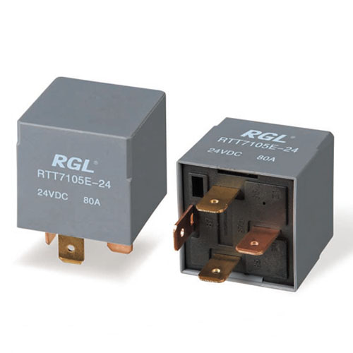 RGL 12V / 24V RTT7105E 80A small electromagnetic relay relay Universal Car Electric Tools DIY Accessories 4 feet