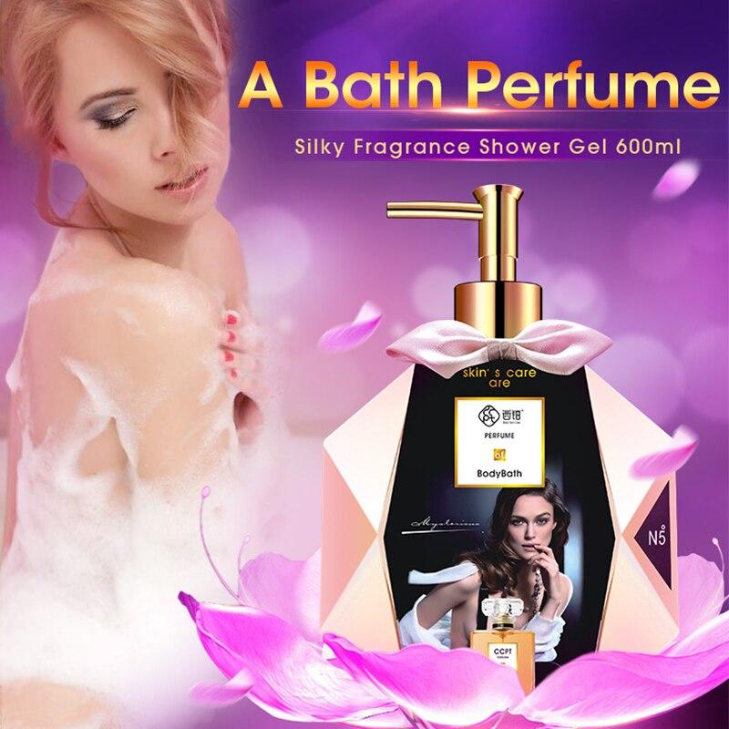 Silky Fragrance Essential Oil Shower Gel Body Skin Whitening Exfoliating Moisturizing Nourishing Pheromone Perfume Body Wash