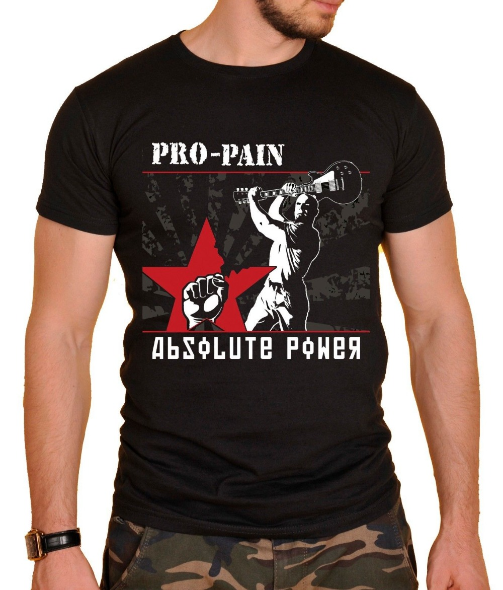Great T Shirts Men'S O-Neck Pro-Pain Rock Band T-Shirt Black N Short Sleeve Compression T Shirts