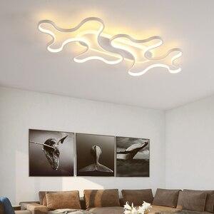 Image 3 - LICAN DIY Moderne LED Plafond Verlichting forLiving kamer Slaapkamer lustre de plafond moderne armatuur plafonnier Zwart LED Plafond Lamp
