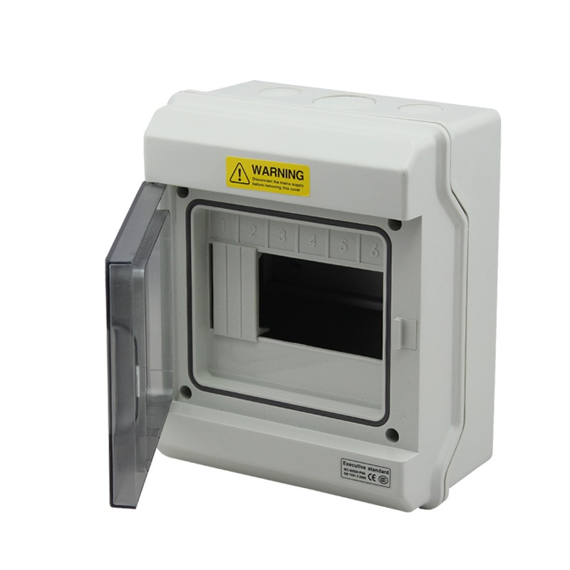 6 Way IP66 Waterproof Electrical Distribution Enclosure Outdoor FG-1506 Switch Box 2015 ip66 electrical aluminium enclosure waterproof box 300 210 130 with 4 screws