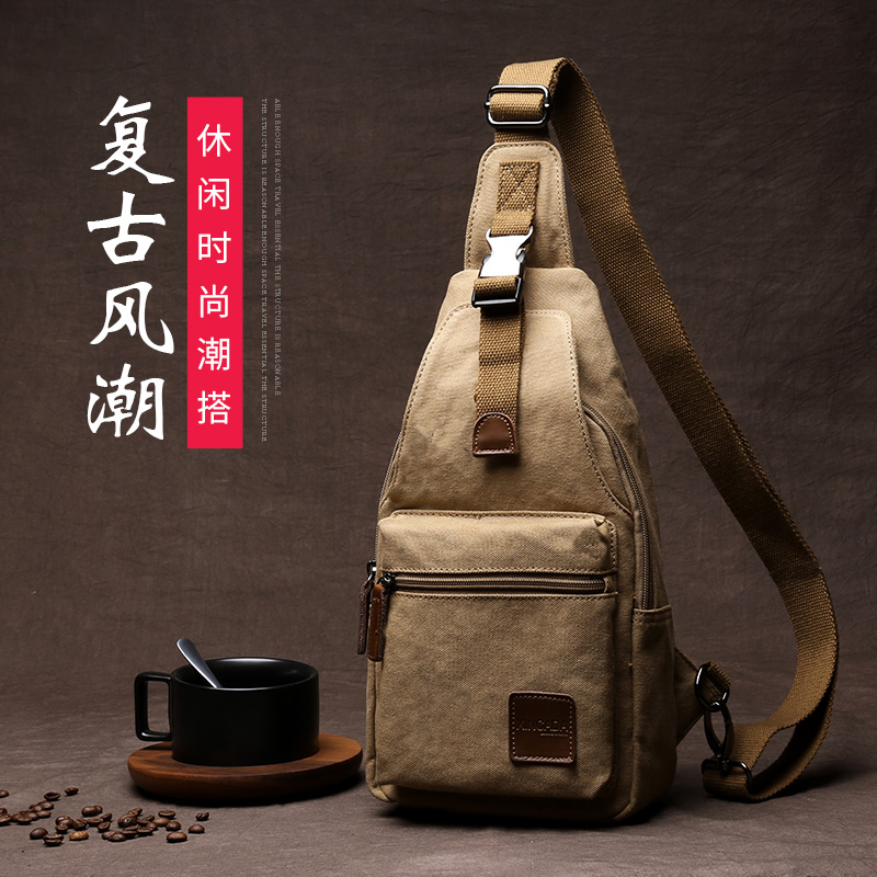 XINCADA Canvas Chest Bags Portable Sports Shoulder Bag Messenger Bag Sports Bag