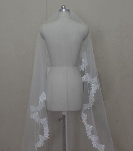 300cm Long ! New Fashion ! Free Shipping ! Hot Sale ! Bridal Veil Wedding Veils BRIDAL ACCESORIES LACE VEIL OV0003
