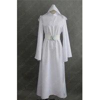 Star Wars Costume Princess Leia Cosplay Costume Custom Made Girls Clothes Female Dress Belt Women Children