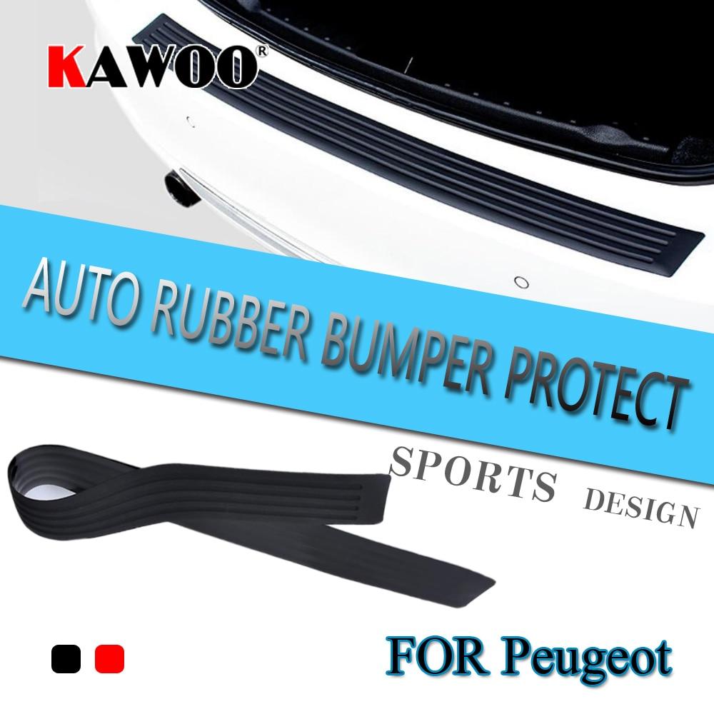 KAWOO Pour Peugeot 3008 5008 308 307 Bipper Boxeur Pantner3 En Caoutchouc arrière Garde Pare-chocs Protéger Garniture Couverture Seuil Tapis Pad Car Styling