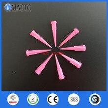 100 шт 20 г ТТ конические наконечники дозирующие иглы розовый цвет дозатор клея сопла