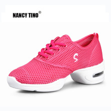 NANCY TINO Sports Feature Soft Ydersål Åndbar Dansesko Sneakers For Woman Practice Shoes Moderne Dance Jazz Dancing Shoes