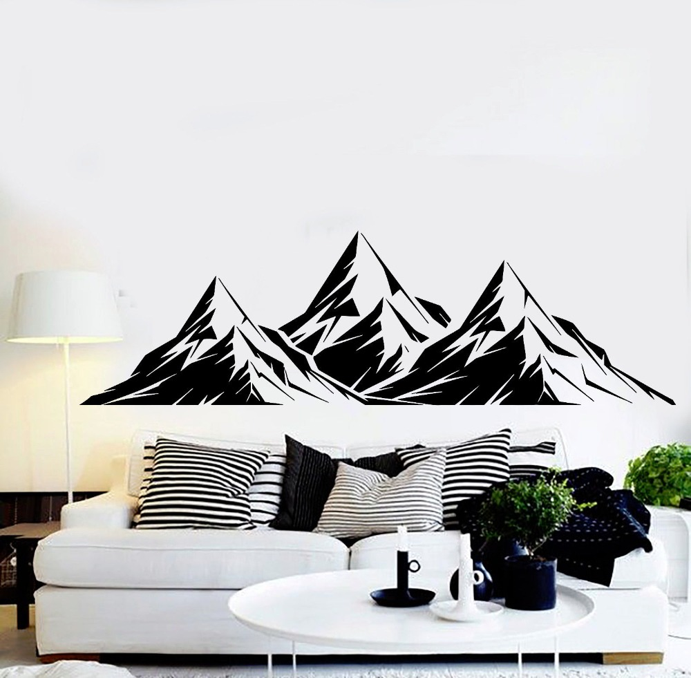online get cheap vinyl wall mural aliexpress com alibaba group 3d vinyl wall mural large size mountains wall sticker for home living room art decoration wall