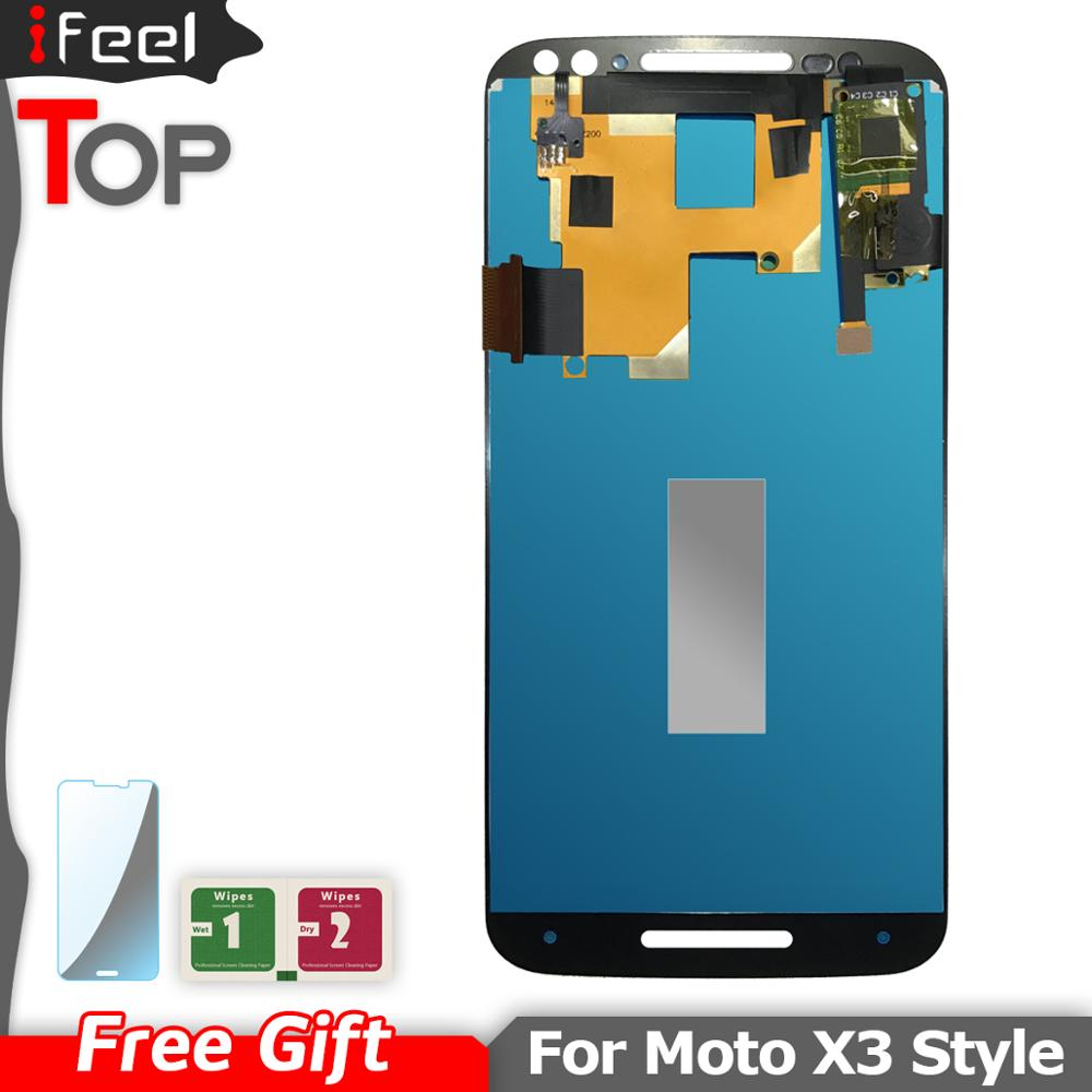 100% Tested LCD Display Screen Touch Digitizer Assembly For Motorola Moto X style X3 XT1575 XT1572 XT1570 LCD