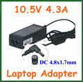 10pcs 10.5V 4.3A 45W 4.8*1.7mm AC Adapter Battery Charger for Sony Laptop Power Supply Adapter VGP-AC10V8 PA-1450-06SP