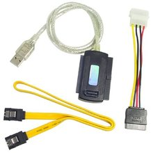 2x USB to IDE SATA 2.5 3.5 Hard Disk HDD Cable Converter