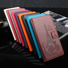 Nokia 5 Case 5.2 inch Luxury Elegant Flower Tower Embossing Leather wallet flip protective cover for Nokia Heart TA-1008 TA-1030