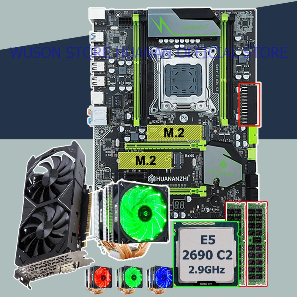 Motherboard With DUAL M.2 Slot HUANANZHI X79 Pro Motherboard With CPU Xeon E5 2690 2.9GHz RAM 16G(2*8G) Video Card GTX1050Ti 4G
