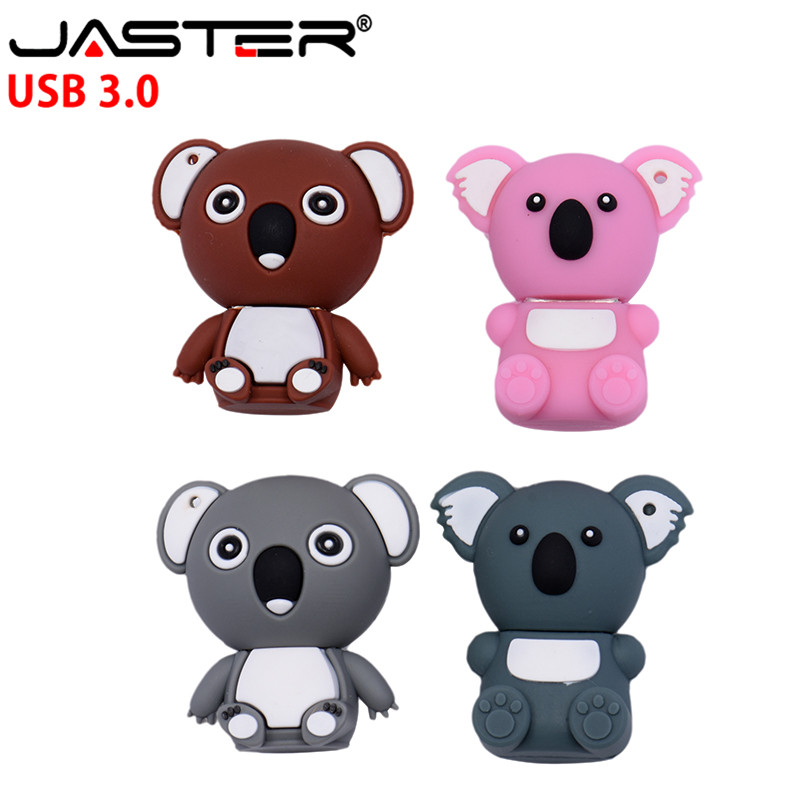 JASTER 3,0 <font><b>Koala</b></font> USB flash drive speicher karte usb-stick 4GB 8GB Pen Drive nette cartoon usb flash disk 16GB <font><b>32GB</b></font> USB creativo image