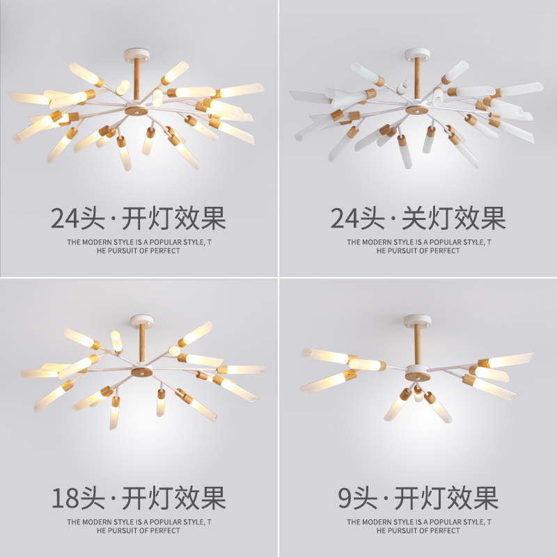 Postmodern LED chandeliers ceiling Nordic luminaires Deco Glass fixtures living room hanging lights bedroom indoor t lamps