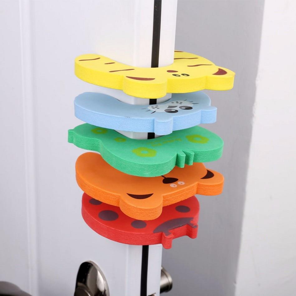 5PCS Lot EVA Child Safety Locks For Cabinet Door Drawer Baby Finger Protector Safety Finger Protection Locks Kids Safety Guards