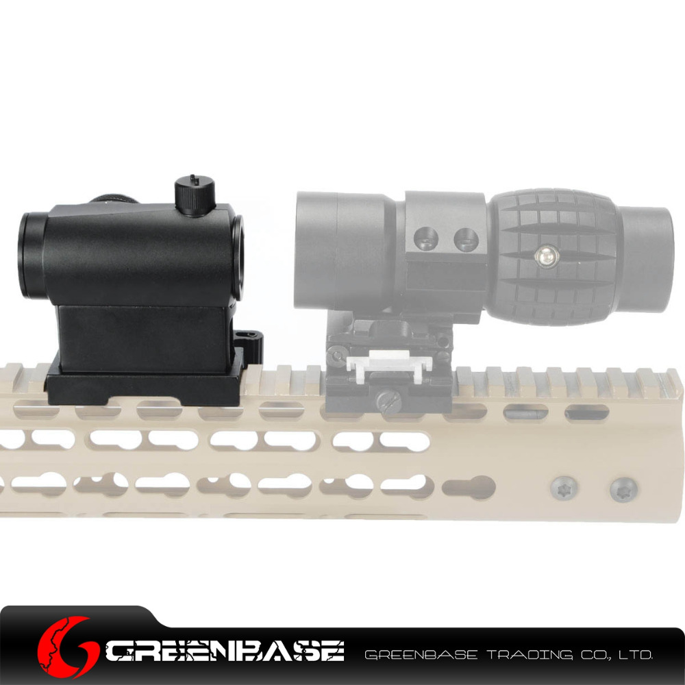Greenbase QD Quick Release Hight Mount Tactical Mini Micro 1X24 Red And Green Dot Sight Rifle Scope Fit 20mm Weaver rail Hunting 1 pack smith and wesson revolver j frame 22 long rifle 22 magnum 357 magnum 38 special quick release conceal carry micro holster trigger stay by garrison grip pink