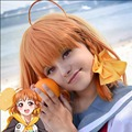 Love Live Sunshine Chika Takami Orange Short Braid Cosplay Wig Lovelive Bob Synthetic Hair Wigs