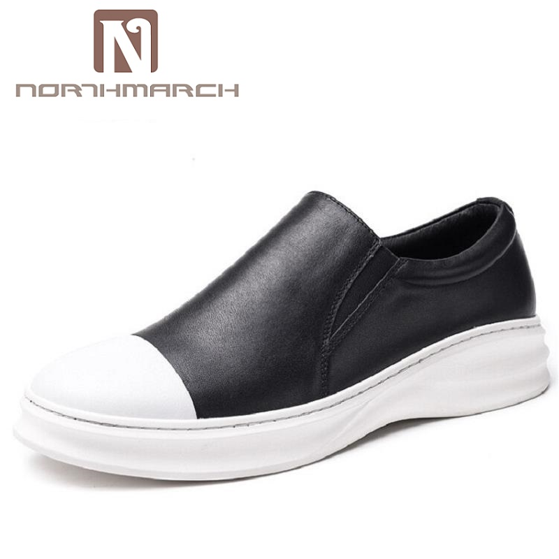 NORTHMARCH Men Breathable Casual Shoes British Style Mens Flat Comfortable Slip-On Loafers Male Shoes Herenschoenen Loafers цены онлайн