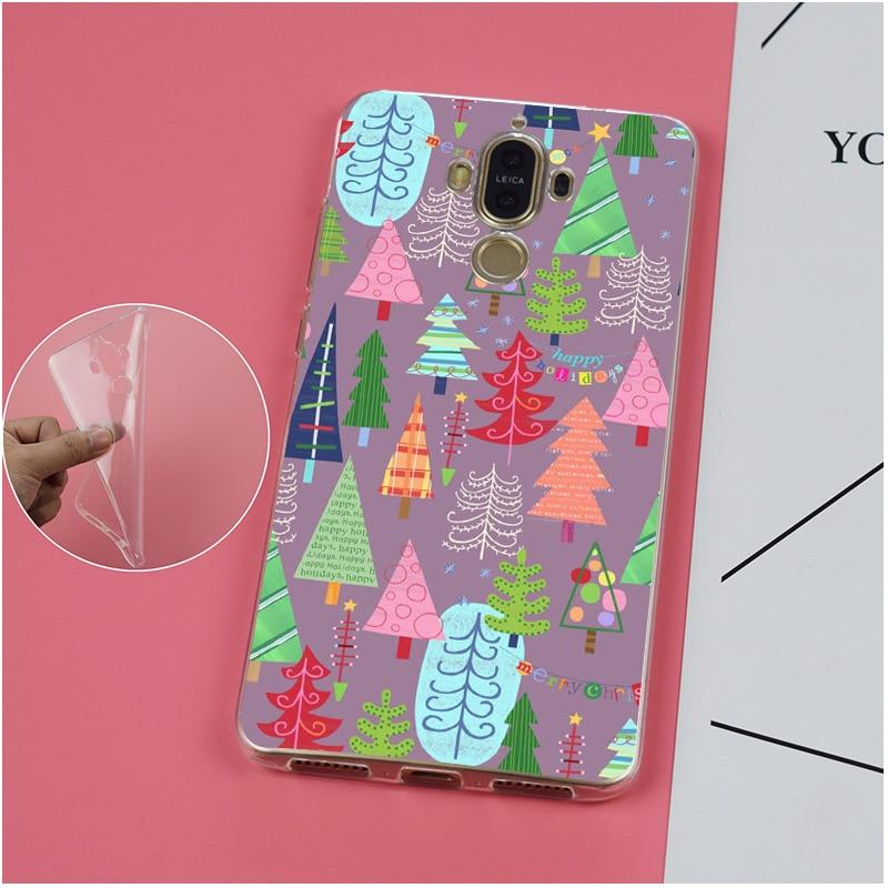 Christmas Tree Soft TPU Silicone Case Cover For Huawei Mate G 7 8 9 10 Nova 2 Lite Pro Plus