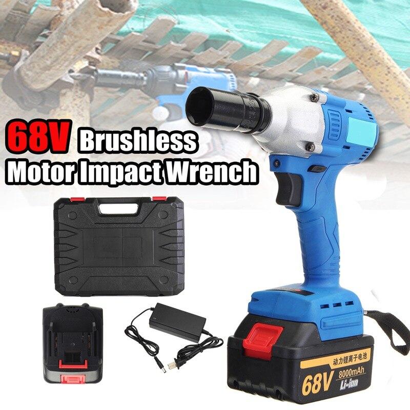 New 21 68v 220v Electric Cordless Impact Wrench Brushless Motor High Torque 3 Sd 330 Nm 3200r Min 2 Battery